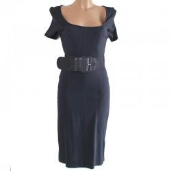 Abito Vestito Tubino Blu L vestitino donna