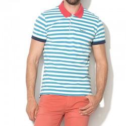 Polo uomo PEQUI Pepe Jeans PM540926 tshirt  righe blu verde
