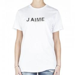 T-Shirt donna 7384 J'Aimè manica corta maglia XS S M L bianca jaime