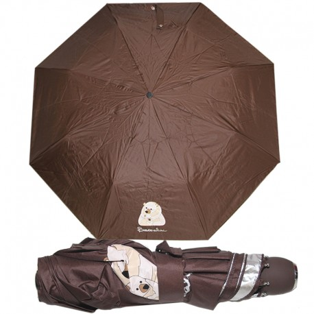 Braccialini ombrello automatico piccolo borsa marrone 28 cm.