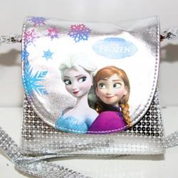 Borsa Frozen Disney bag tracolla argento piccola borsetta