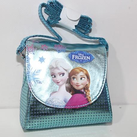 Borsa Frozen Disney bag tracolla celeste piccola borsetta