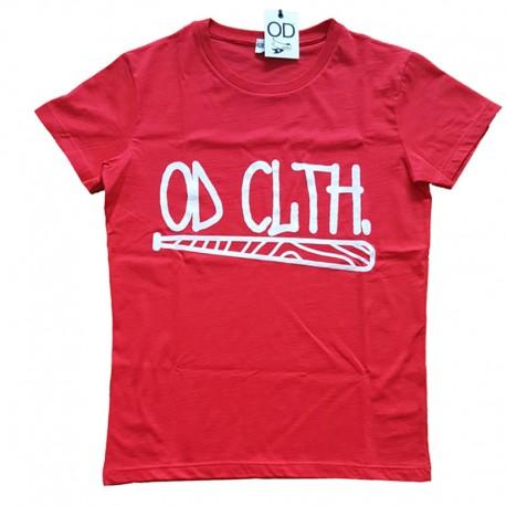 Maglia T-Shirt unisex BERLINO OD CLTH. Rosso uomo donna manica corta oversize