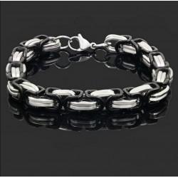 Bracciale uomo in acciaio silver argento catena