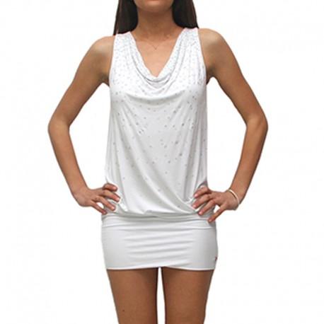 innovative design 3f265 62720 Abito Met ILTY J284 vestito donna bianco viscosa elasticizzato S M