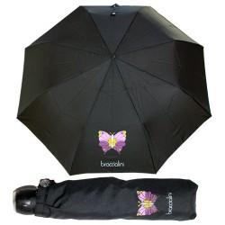 Braccialini ombrello automatico piccolo borsa nero farfalla  28 cm.