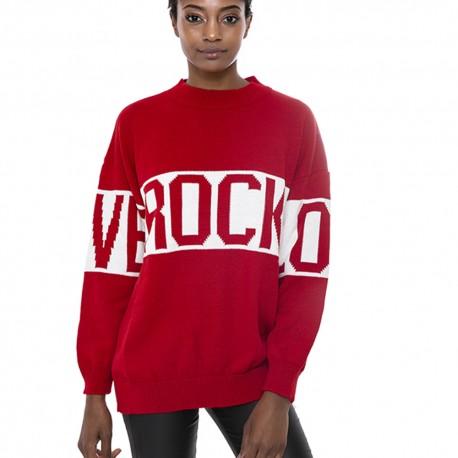 Magliadonna Ranpollo R 617 manica lunga rosso lana rock