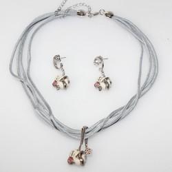 THUN Collana Pendente e orecchini Freedom Rosa V1231S80 parure