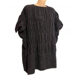 Maglia maglione taglia 44 vestibilità larga grigio lana donna