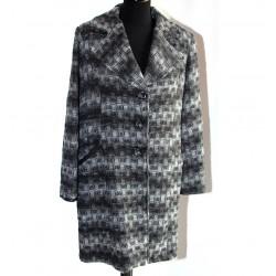 Giacca Cappotto grigio bianco XL donna