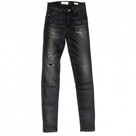 Jeans Pantalone Fifty Four donna SIRES J591 R-103-MAR BT vita alta super skinny nero