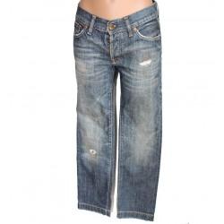Jeans donna vintage  blu pantalone
