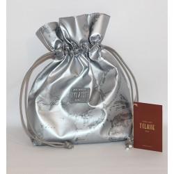 Prima Classe borsa mano pochette argento silver grigio Alviero Martini
