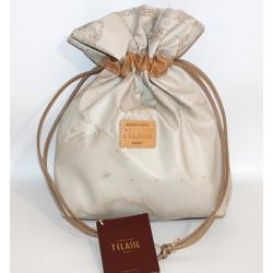 Prima Classe borsa mano pochette beige classico Alviero Martini