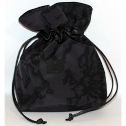 Prima Classe borsa mano pochette nero seta Alviero Martini