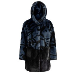 Bomboogie donna CWFLEET FU5P giacca cappotto ecopelliccia stampata