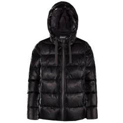 Bomboogie donna GW6012 giacca piumino lucido con cappuccio nero