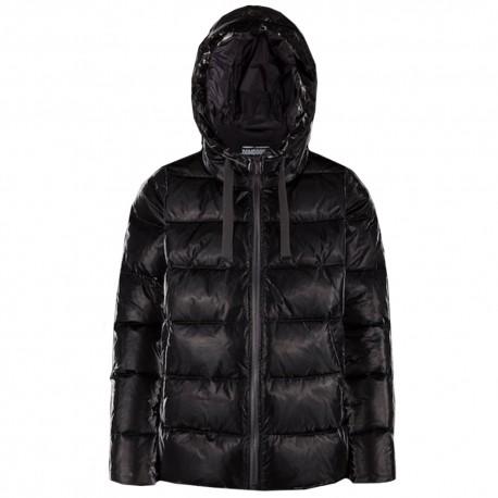 the latest 99ef5 6f470 Bomboogie donna GW6012 giacca piumino lucido con cappuccio nero