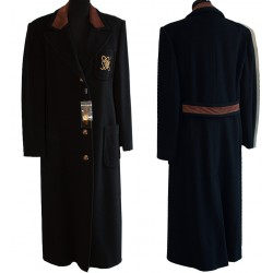 Giacca cappotto lungo donna taglia 44 nero made italy