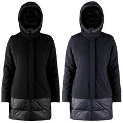 Piumino Donna Bomboogie CW5924 blu nero giacca lunga