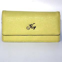Portafoglio donna Hoy Collection portamoneta borsellino giallo simil pelle card