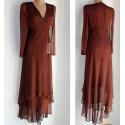 Vestito lungo donna seta taglia 42 abito