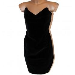 Vestito velluto donna nero taglia 44 abito vestitino
