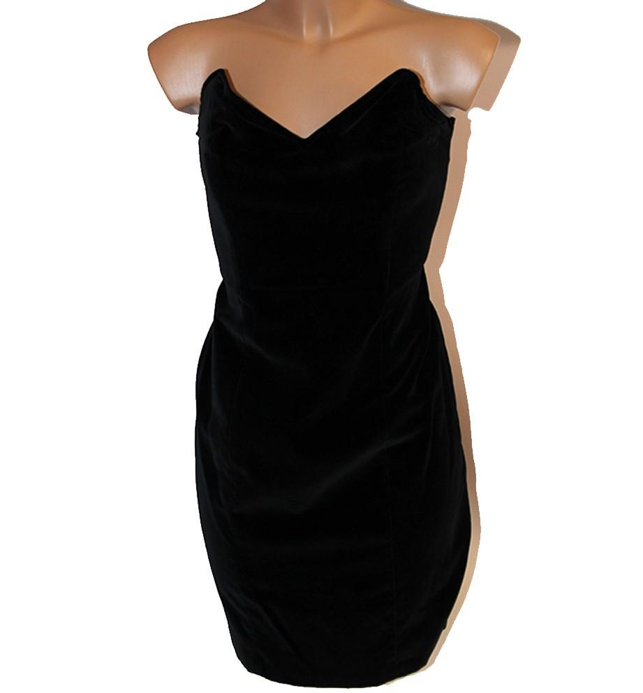 0f9fe22b705b Vestito velluto donna nero taglia 44 abito vestitino