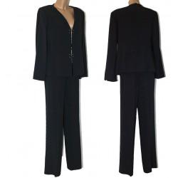 Tailleur Completo giacca e pantalone blu donna 50 abito