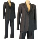 Tailleur Completo giacca e pantalone 38 Naf Naf grigio donna
