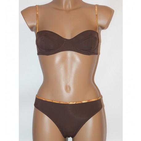 Prima Classe Costume due pezzi marrone bikini Alviero Martini