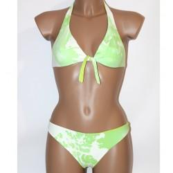 Prima Classe Costume due pezzi bianco verde mappa bikini Alviero Martini