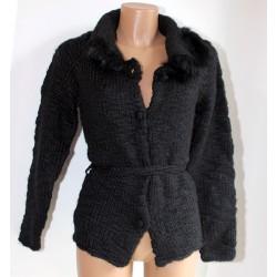 Maglia donna Guru cardigan giacchino nero L