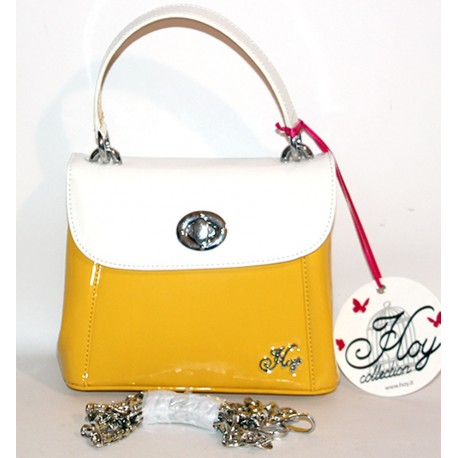 Borsa Hoy Collection giallo bianco con tracolla