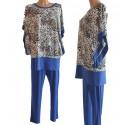 Vestito abito blusa + pantalone donna Gigliorosso L made italy