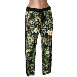 Pantalone ibiscus Giorgia e Johns fiori L donna