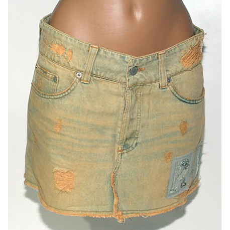Gonna Mini jeans Richmand Denim 42 cotone donna