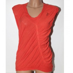 Maglia Tricot chic taglia 48 arancione tshirt donna