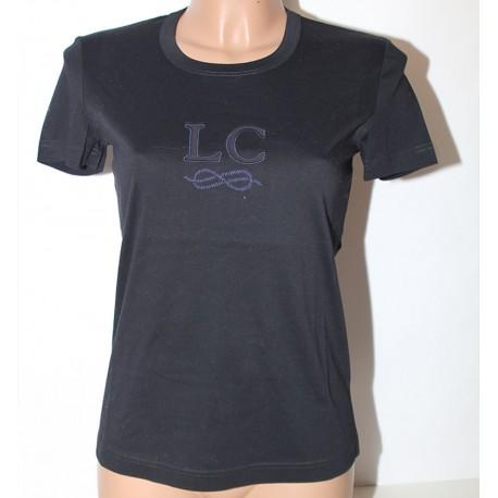 Maglia Les Copains nero blu 42 tshirt manica corta donna