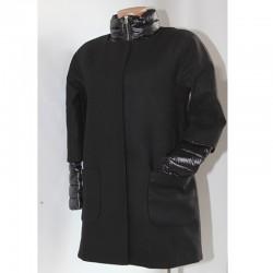 Giacca piumino cappotto DELAMP M 2 giacche in 1 nero donna