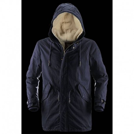 competitive price c91d1 4151b Giacca Bomboogie Giaccone Parka blu navy uomo L lana