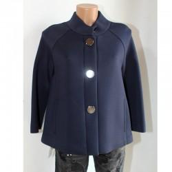 Giacca cappottino Sfizio 40 blu viscosa donna