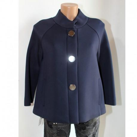 best website 6cc85 871bf Giacca cappottino Sfizio 40 blu viscosa donna