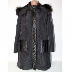 Giacca piumino Paola Joy 48  Cappotto cappuccio removibile pelliccia donna