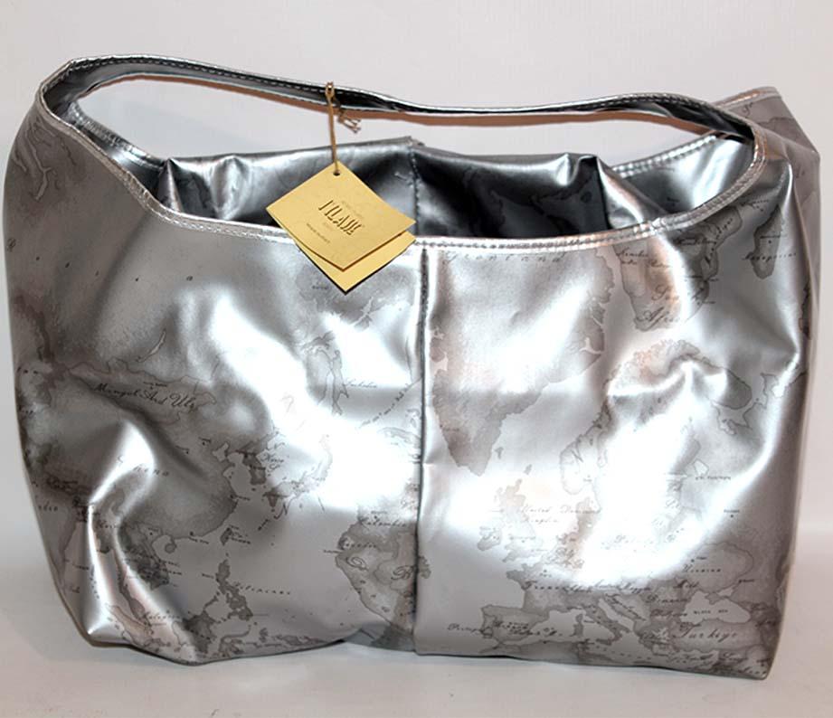 Borse Alviero Martini Argento : Prima classe borsa argento silver mano spalla alviero