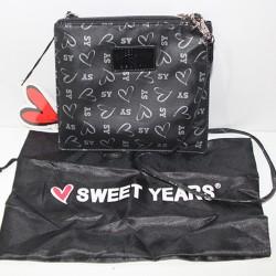 Borsa Tracolla Sweet Year originale zip Nero