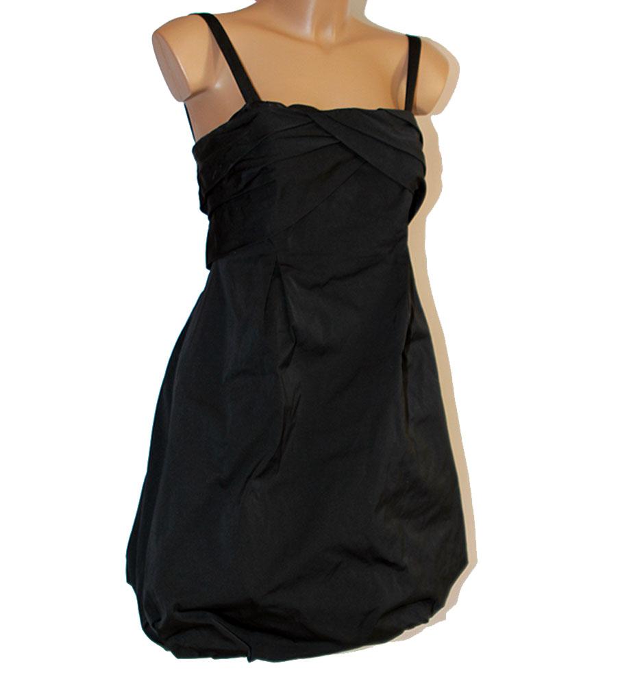 huge discount a8553 62aab Dettagli su Abito Vestito Pinko nero a palloncino 44 vestitino